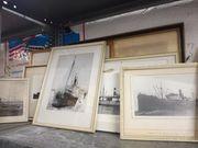 Maritime gerahmte Schiffsbilder