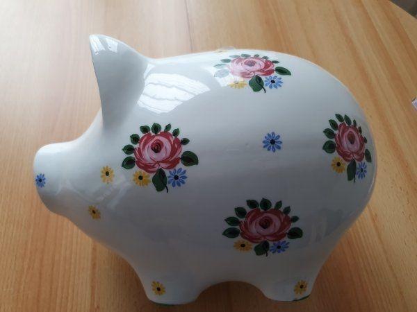 Sparschwein einzigartig handbemalt