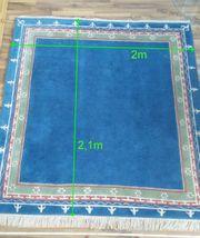 Teppich reine Schurwolle 2x2 1m