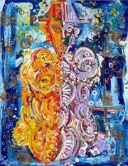 Leon Löwentraut Nachtwanderer 129 x