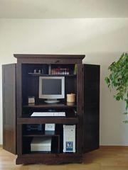 Büroschrank Home-Office Computerschrank Massivholz Schrank