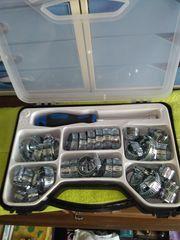 Schlauchschellen-Sortiment 42-tlg silver