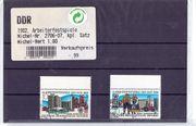 2 DDR-Briefmarken Arbeiterfestspiele 1982