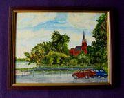 2 Gemälde Ölgemälde Röbel am