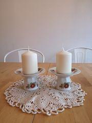 Kerzenhalter aus porzellan