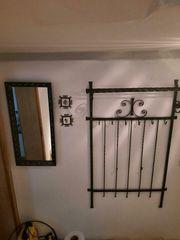 Alte geschmiedete Garderobe Spiegel 2
