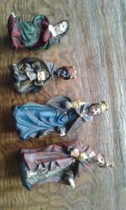 Krippen handgemachte figuren alt Weihnachten