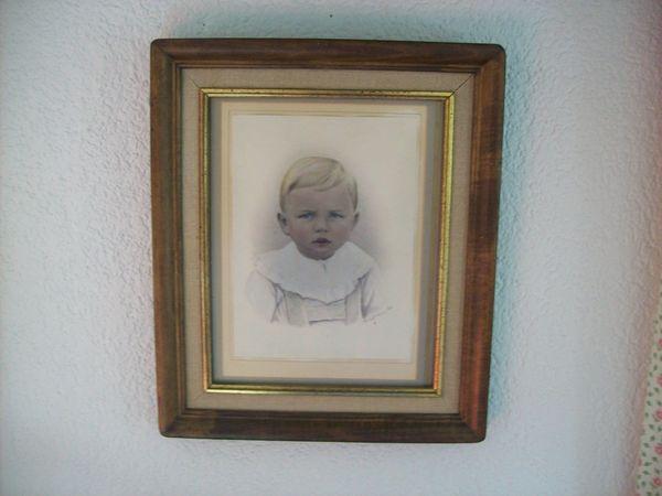 Portrait blonder Knabe repro Rarität