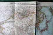 Historische Landkarte ostasiatische Staaten und
