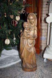 Madonna Holzfigur Heiligenfigur Marienfigur Mutter