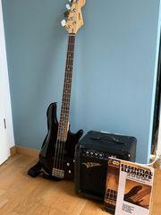 E- Bass mit Verstärker für