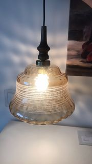 Lampe Deckenlampe Hängelampe Glaslampe vintage