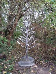Tannenbaum ohne Tannen Springbrunnen - Edelstahlbaum