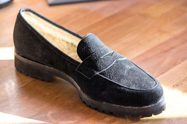 Unützer Schuhe Damen Loafer schwarz