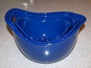Teigschüssel Set mit Griff blau