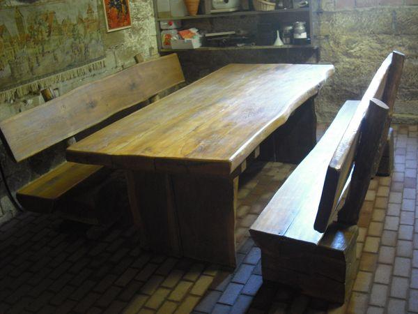 Eichentisch Tisch Massiv Holz Tischplatte