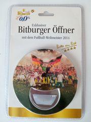 Ritzenhoff Bitburger Flaschenöffner mit Fußball-Weltmeister