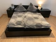 Bett Malm schwarz 200x160cm