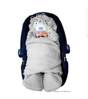Baby Einschlagdecke Grau