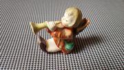 Alte Hummelfigur Kerzenhalter sitzender Engel