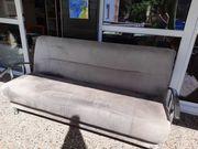 Couch grau ausklappbar mit Bettkasten