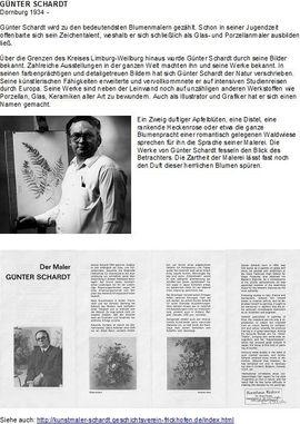 Kunst, Gemälde, Plastik - Veilchen von Günter Schardt Ölgemälde