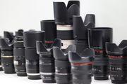 Diverse Canon Objektive -gesamt oder