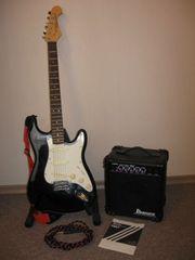 E-Gitarre mit Verstärker Al Stevens