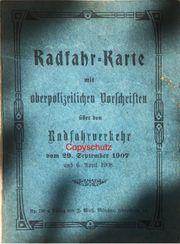 Original Radfahr-Karte Königreich Bayern 1907