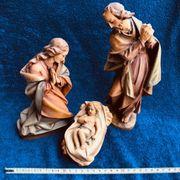 Krippenfiguren Heilige Familie - handgeschnitzte Holzfiguren