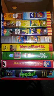 Videocassetten VHS für Kinder