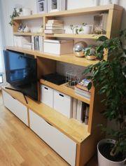 Wohnzimmer IKEA Aufbewahrung Regal Borghamn