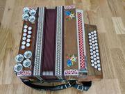 Selbstspielende steirische Harmonika Minidisc Blaser