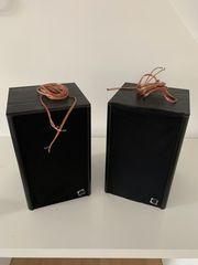 Arcus TS-15 Lautsprecherboxen mit Kabeln