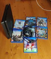 PS4 SLIM 500GB 7x Spiele