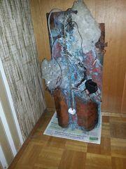 Wandzimmerbrunnen aus Kupfer