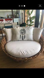 Design Gartensofa aus Rattan