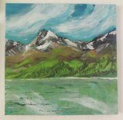 Gemälde Bild Landschaft mit Wasser