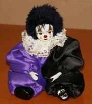 Süßer Harlekin - 35 cm - Porzellan - Puppe