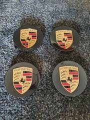 Porsche Nabenkappen schwarz Cayman Carrera