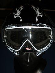 Ski - Helm mit Brille Gr