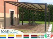 Pavillon Terrassendach personalisierte Farben Stahl
