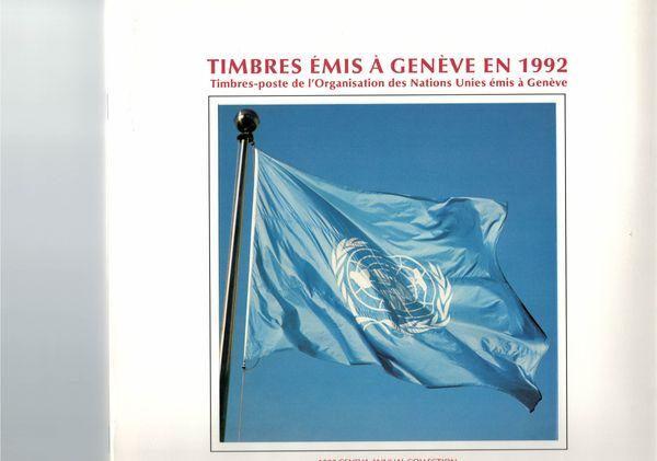 UNO GENF JAHRESMAPPE 1992 - Gestempelt