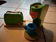 Toaster und Kaffeemaschine für Puppenküche