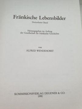 Vier Bände Fränkische Lebensbilder antiquarisch: Kleinanzeigen aus Erlangen Büchenbach - Rubrik Komplette Sammlungen, Literatur