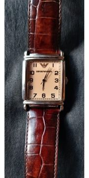 Emporio Armani Uhr mit Lederband