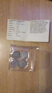 4 mal 50 Pfennig Bank