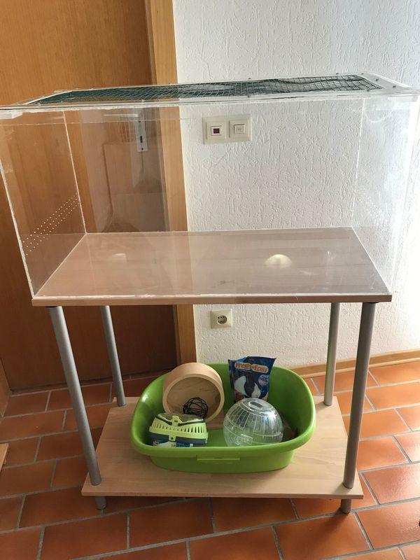 Terrarium Aquarium Hamsterkäfig mit Zubehör