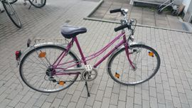 Damen-Fahrräder - RaBeneick pinkes Damenfahrrad 28 Zoll