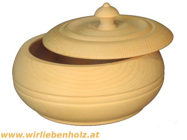 Zirbenholzdose 18 cm Durchmesser